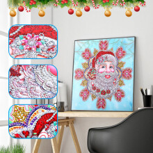 Christmas Special Shaped Diamond Painting DIY 5D Partial Drill Cross Stitch Kits
