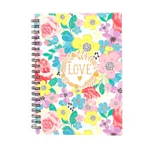 markers-Love Flower Series Design Smooth And Comfortable Coil Book 4pcs Paper Blank Note on JD