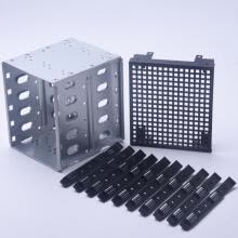 hdd-enclosure-Stainless Steel Rack SAS For Computer SATA Hard Drive Cage 5.25' To 5x 3.5' on JD