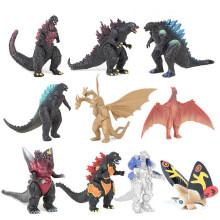MIARHB 10Pcs/ Set Mechagodzilla Gigan Anguirus Action Figure PVC Gift Toys
