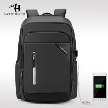 ARCTIC HUNTER Casual Computer Zipper Laptop Backpack External USB Charge Computer Backpacks Waterpro