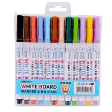 office-products-(Deli) S506 12-color single-head mini white pen pen set easy to clean without leaving marks on JD