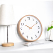 12 Inch Glass Wooden Wall Clocks Silent Quartz Non Ticking Wall Clocks Living Room Office Wooden Hand Simple Concise Home Decor