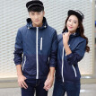 Unisex Couple Fashion Long Sleeve Contraste Color Zipper Sun Protection Jacket