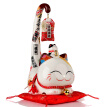[Jingdong supermarket] Jinshi factory Lucky cat ceramic shop opening creative gifts home furnishings to send friends long-tailed cat SC6033