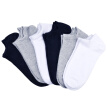Gangsha Men's Short Cotton Socks 6pcs, Assorted Colors
