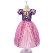 MUABABY Niñas Rapunzel Dress Up Kids Snow White Princess Costume Niños Cinderella Aurora Sofia Fiesta de Halloween Vestido de Cosplay