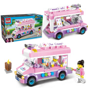 ENLIGHTEN Building Blocks Juguetes inteligentes para niñas City Series Ice Cream Cart