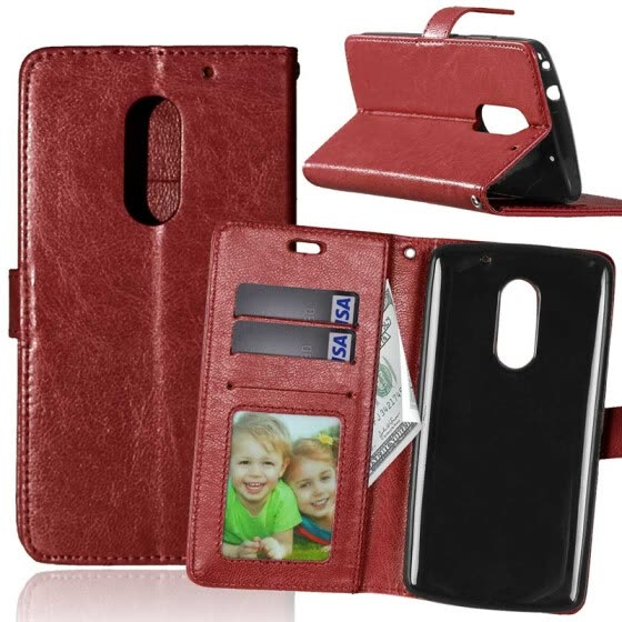 huge discount 0126e 71f45 Shop Brown Style Classic Flip Cover with Stand Function and Credit ...
