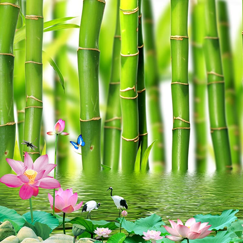 custom 3d photo wallpaper for walls 3 d lotus flower