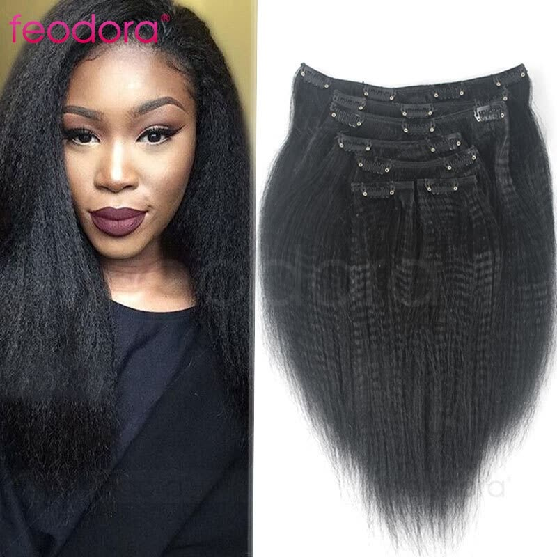 Shop Clip In Human Hair Extensions Brazilian Virgin Human Hair Yaki