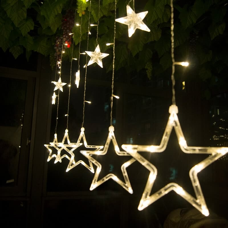 2m led christmas stars lights indooroutdoor 220v led fairy lights holiday lights for party