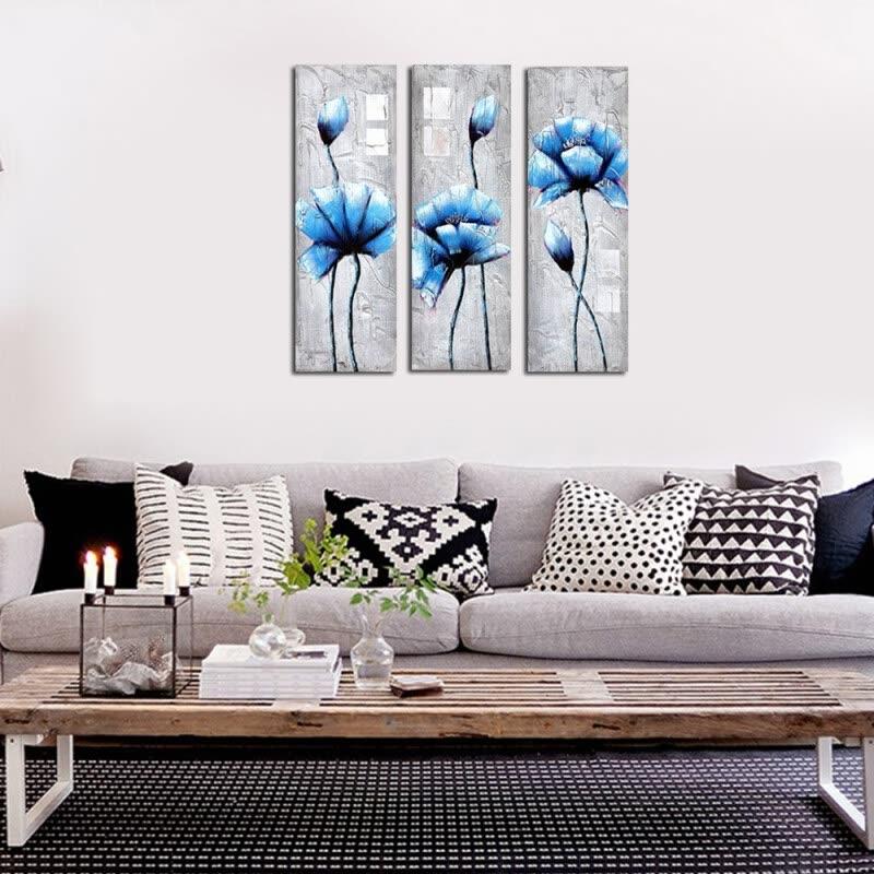 Shop Framed canvas modern living room bedroom background wall triple ...