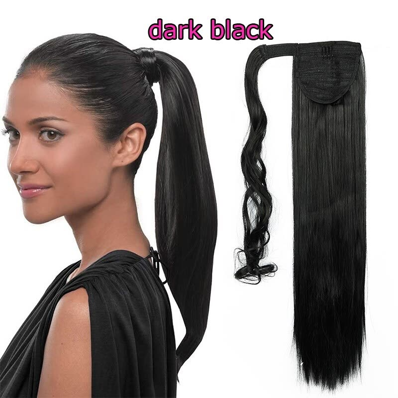 Shop Hot Sell Sexy Long Straight Curly Tie Upwrap Around Ponytail