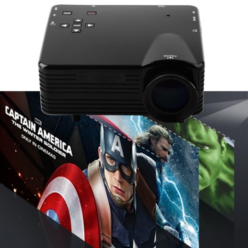 Lcd Projector Pc Av Tv Vga Usb Hdmi Hd 1080p Home Theater: Home Cinema Multimedia LED LCD Projector VS-320 HD 1080P