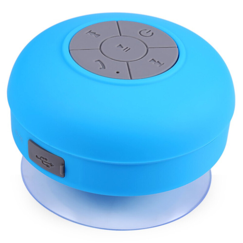 BTS - 06 Water Resistant mini portable Shower Bluetooth Speaker with Sucker Support Hands-free Calls Function for Mobile Phone