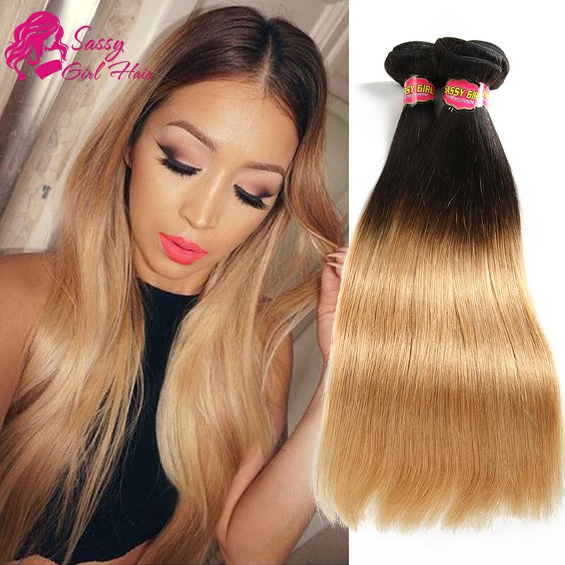 Shop 7a Malaysian Straight Ombre Honey Blonde Weave 100 Human Hair