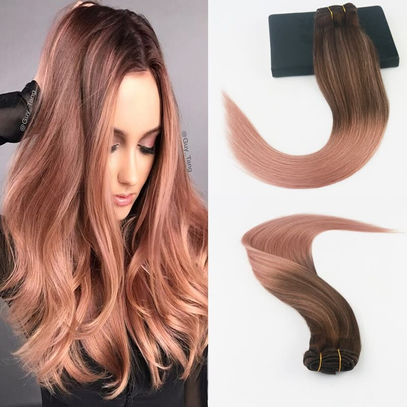 Shop 14 24 7pcs 100gram Color 3 Dark Browm Fading To Color Rose