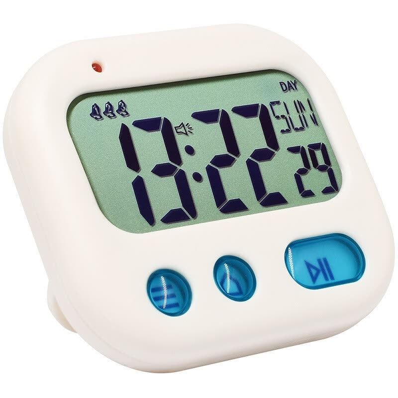 Student Alarm Clock Digital LCD Travel Clock Kitchen Timer Countdown Snooze Full Vision Vibration Table Clock Loud Alarm 3 Alarm