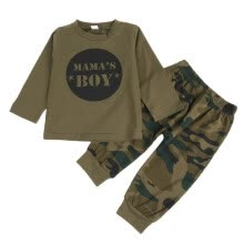 -Baby Boy Clothes Cotton Green Pants 2pcs Baby Boy Outfit 2019 New Brand Design Toddler Set For Boys Infant on JD