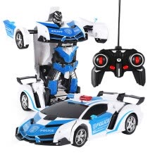 -Gobestart 1:18 Electric Remote Control Car1 Button Remote Control Deformable Vehicle Robot on JD