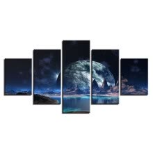 -5 Pictures Combination DIY 5 Light of the Universe Diamond Painting Wall Art Craft Decor Full Diamond Area for Home Wall on JD