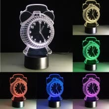 -3D illusion Visual Night Light 7 Colors Change LED Desk Lamp Bedroom Home Decor on JD