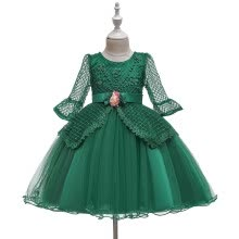 -Toddler Kid Girl Lace LongSleeve Princess Gown Party Tulle Dress Cosplay Clothes on JD