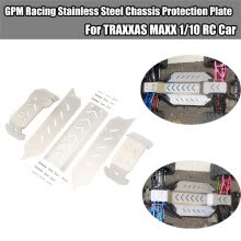 -GPM Racing Stainless Steel Chassis Protection Plate For TRAXXAS MAXX 1/10 RC Car on JD