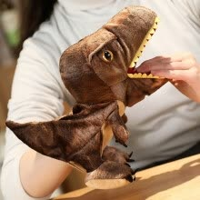 -Tailored Dinosaur Hand Puppet Plush Toy Can Open Mouth Parent-child Interactive Toy on JD