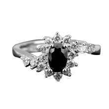 -Wedding Engagement Women Bling Rhinestone Inlaid Open Ring Finger Jewelry Gift on JD