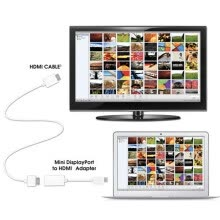 -NEW Mini Display Port DP To HDMI Cable Adapter For Apple MacBook Air Pro on JD