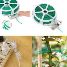 -Kitchen Bag Gardening Plant Green Tie Wire Roll With Wire Cutter 100M on JD