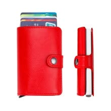 -Women Men ID Credit Card Protector Leather Wallet Card Holder Package Box RD on JD