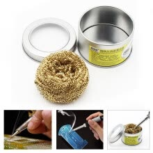 -Soldering Iron Tip Cleaner With Brass Wire Sponge No Water Needed on JD