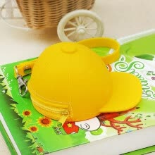 -Cool Baseball Cap Shape Silicone Coin Purse Mini Coin Wallets Change Bag on JD