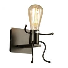 -Vintage Industrial Robot Wall Lights Sconce Lamp Light Fittings For Kid's room on JD