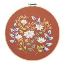 -European Style Embroidery Retro Hoop for Beginner Needlework Cross Stitch Kit Handmade Sewing Wall Art Flowers Series on JD