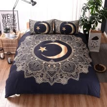 -Three Piece Bedding Set Duvet Cover, Pillowcases Moon Star Full Size on JD