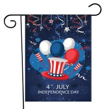 -Happy Independence Day Garden Flag Indoor Outdoor Home Decor Printing Flag on JD