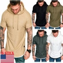 -Men Gym Thin Hoodie Long Sleeve Hooded With Mask Skull Sweatshirt Tops on JD