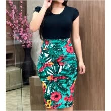 -Women Summer Dress Plus Sizes 3XL Sexy Vintage Elegant Floral Pencil Dresses Evening Party Dress Bodycon Vestidos on JD