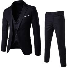 875061442-Men's Plus Size 3 Pieces Casual Suit Men Fashion Slim Business Suit Set Jacket+Vest+Pant 5XL Clearance sale(1-2 size bigger than your normally wear) on JD