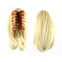 one-pack-hair-Synthetic Claw Straight Hairpiece Short Cute Drawstring Hair Piece Clip In Hair Extensions For Women on JD