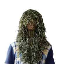 -Full Face Mask Grass Type Ghillie Hood Camo  Lightweight adjustable breathable Veil Hood Cap With Wrap Rope on JD