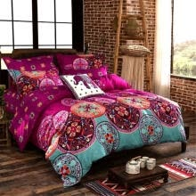 -Bohemian Oriental Mandala Bedding Quilt Duvet Cover Set Single Queen King Size on JD