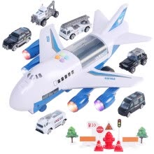 -Large Track Children's Toy Airplane Storage Aircraft Fire Engineering Car Set on JD