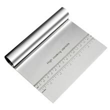 -Stainless Steel Bake Tool Scraper Scraping Panel With Scale Cake Cutting Board on JD