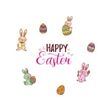 -Loy Happy Easter Eggs Vinyl Decal Art Wall Sticker DIY Home Room Decor on JD