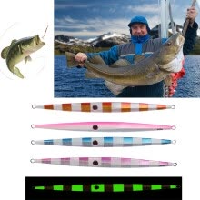 -New brand Freedomgo 11 inch 300g Fishing Vertical Jigs Luminous Slow Jigging Lures Baits Metal Spoon on JD